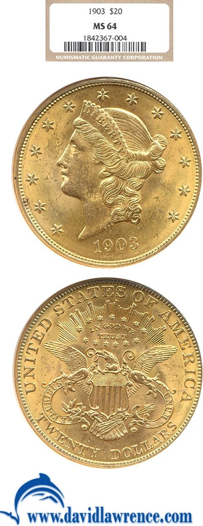 Image of 1903 $20  NGC MS64