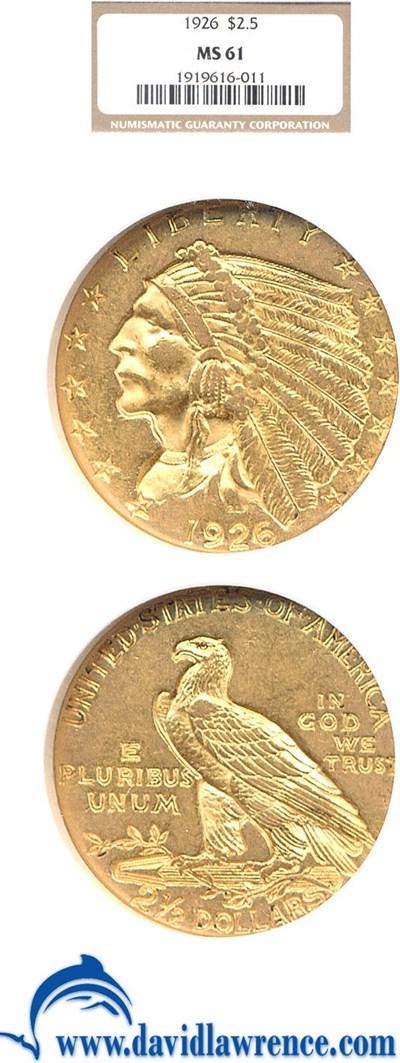 Image of 1926 $2 1/2  NGC MS61