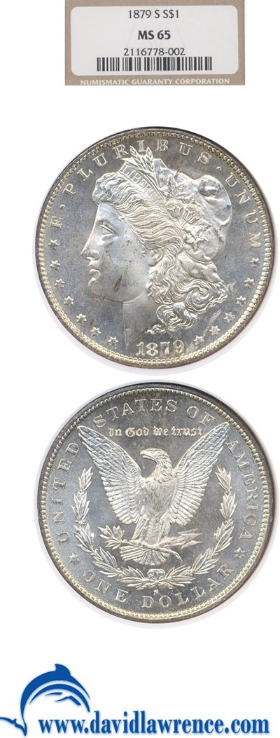 Image of 1879-S $1  NGC MS65