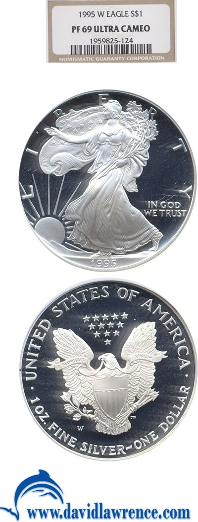 Image of 1995-W $1 Silver Eagle NGC Proof 69 UCameo