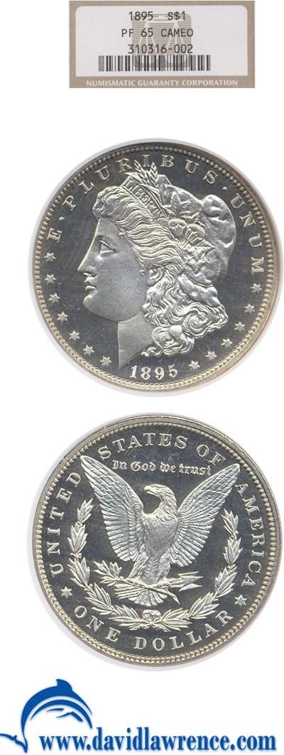 Image of 1895 $1  NGC Proof 65 Cameo