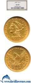 Image of 1879 $2 1/2  NGC AU58