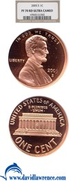 Image of 2005-S 1c NGC Proof 70 RD UCameo