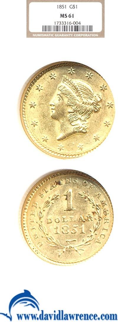 Image of 1851 G$1  NGC MS61