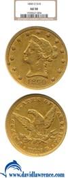 Image of 1850-O $10  NGC AU50