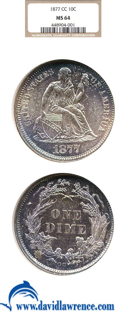 Image of 1877-CC 10c  NGC MS64 **Color**