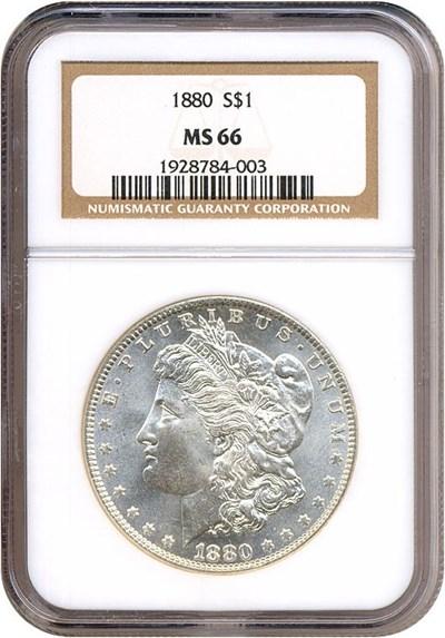 Image of 1880 $1  NGC MS66