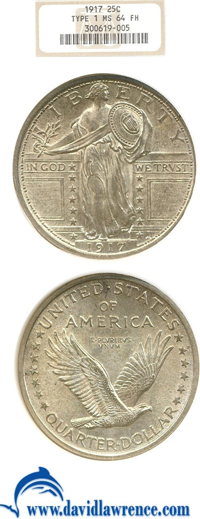 Image of 1917 25c Ty.1 NGC MS64 FH