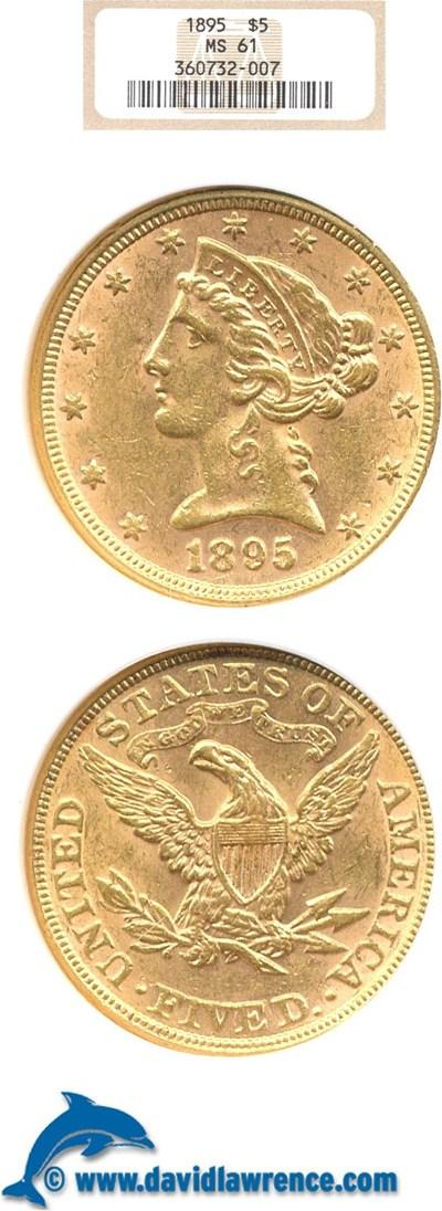 Image of 1895 $5  NGC MS61