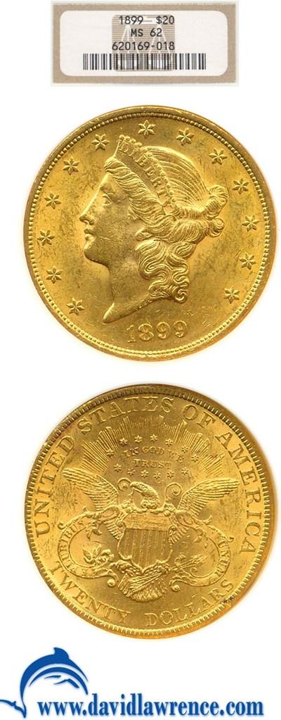 Image of 1899 $20  NGC MS62