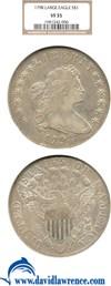 Image of 1798 $1 Lg. Eagle NGC VF35