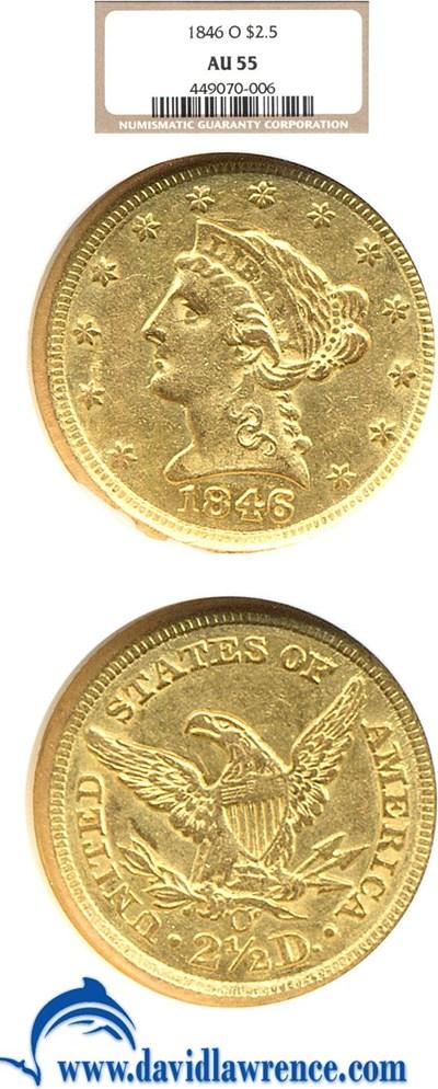Image of 1846-O $2 1/2  NGC AU55