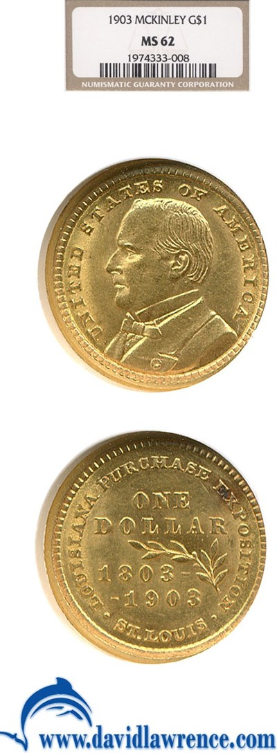 Image of 1903 G$1 McKinley NGC MS62