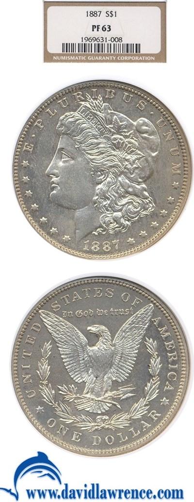 Image of 1887 $1  NGC Proof 63