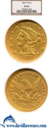 Image of 1867-S $2 1/2  NGC XF45