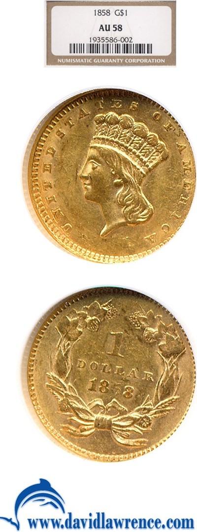 Image of 1858 G$1  NGC AU58