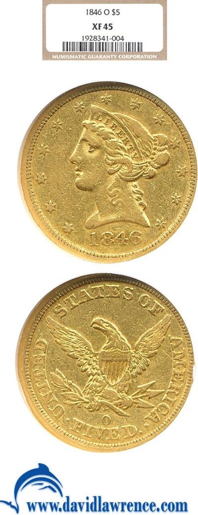Image of 1846-O $5  NGC XF45