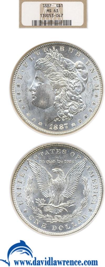 Image of 1887 $1  NGC MS63