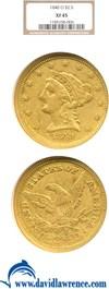 Image of 1840-O $2 1/2  NGC XF45
