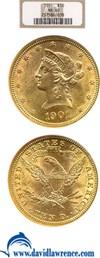Image of 1901 $10  NGC MS60