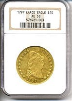 Image of 1797 $10 Large Eagle NGC AU58