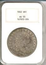 Image of 1802 $1  NGC AU55