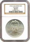 Image of 1995-D $1 Olympic Cycling NGC MS70