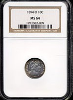 Image of 1894-O 10c  NGC MS64 * Color *
