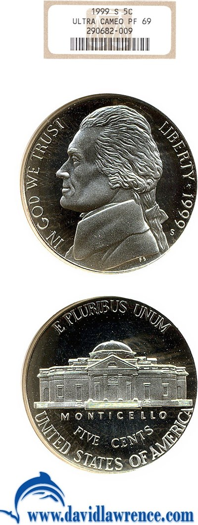 Image of 1999-S 5c  NGC Proof 69 UCameo