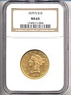 Image of 1879-S $10  NGC MS63