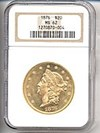 Image of 1876 $20  NGC MS62