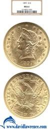 Image of 1899 $10  NGC MS61