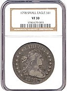 Image of 1798 $1 Sm.Eagle, 13 stars NGC VF30 (BB-81)