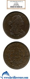 Image of 1797 1c 97 Reverse, Stems NGC XF40 BN (S-130)