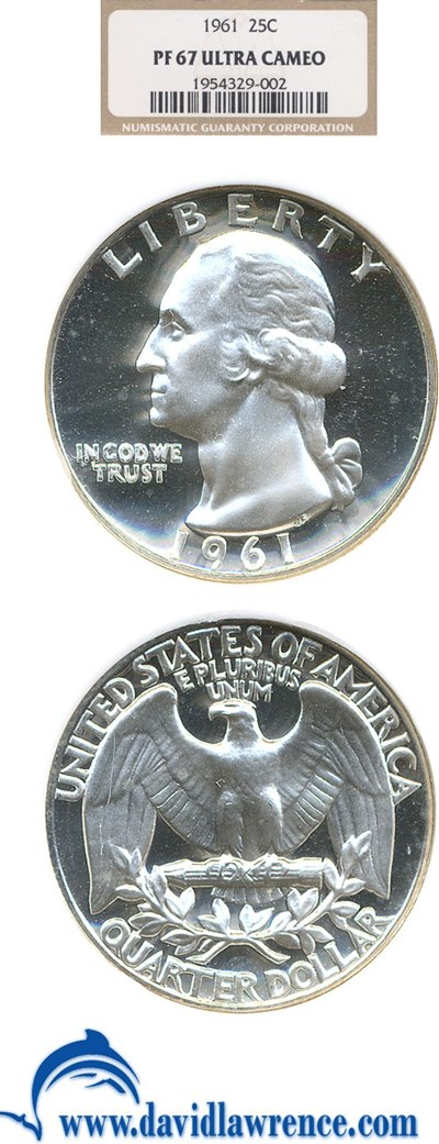 Image of 1961 25c  NGC Proof 67 UCameo