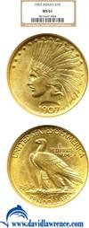 Image of 1907 $10 No Motto NGC MS61