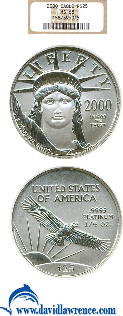 Image of 2000 $25 Platinum Eagle NGC MS68