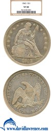 Image of 1843 $1  NGC VF30