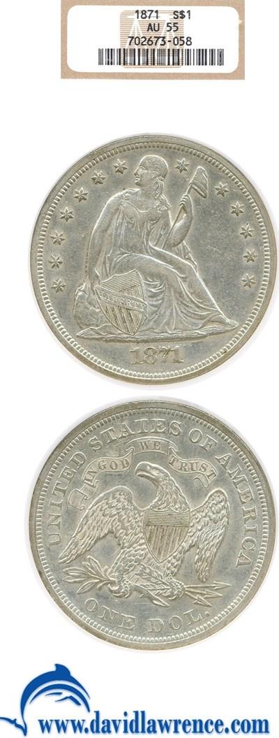 Image of 1871 $1  NGC AU55