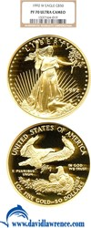 Image of 1992-W $50 Gold Eagle NGC Proof 70 UCameo