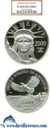 Image of 2000-W $100 Platinum Eagle NGC Proof 70 UCameo