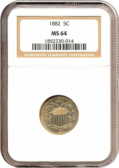 Image of 1882 5c  NGC MS64