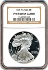 Image of 1996-P $1 Silver Eagle NGC Proof 69 UCameo