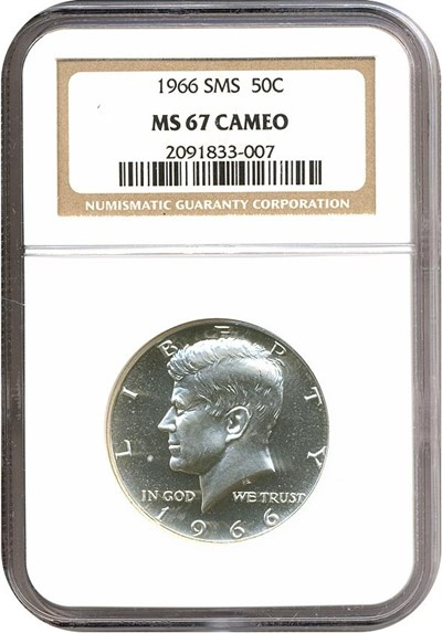 Image of 1966 50c SMS  NGC MS67 Cameo