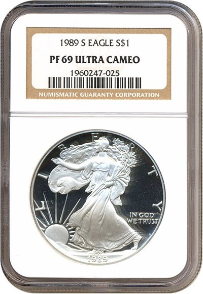 Image of 1989-S $1 Silver Eagle NGC Proof 69 UCameo