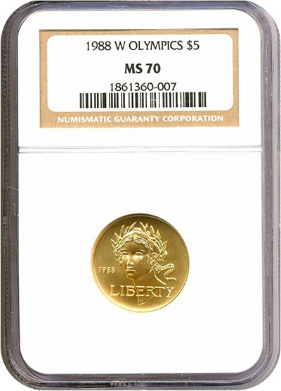 Image of 1988-W $5 Olympic NGC MS70
