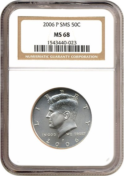 Image of 2006-P 50c Satin Finish NGC MS68