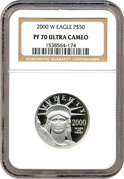 Image of 2000-W $50 Platinum Eagle NGC Proof 70 UCameo