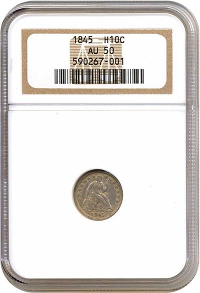 Image of 1845 H10c  NGC AU50