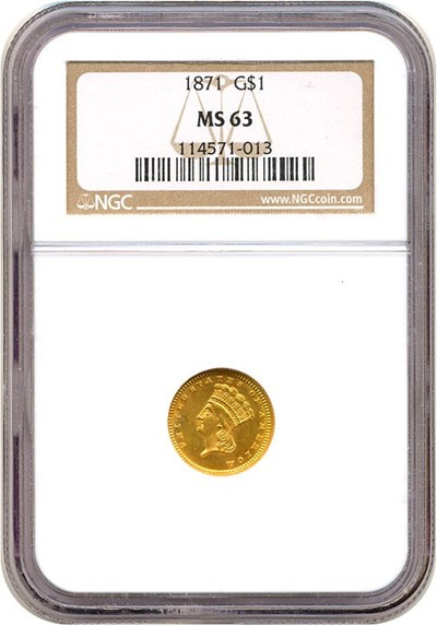 Image of 1871 G$1  NGC MS63